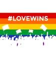 Lovewins LGBT Cheering Crowd vector image vector image
