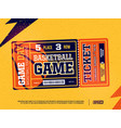 modern professional design of basketball tickets vector image vector image
