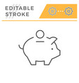 money box editable stroke line icon vector image vector image
