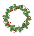 new year and christmas wreath winter garland with vector image