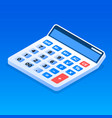 office calculator icon isometric style vector image