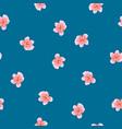 peach blossom seamless on indigo blue background vector image vector image