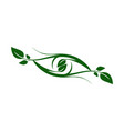 plant leaves abstract eye logo icon nature green vector image vector image