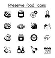 preserved food icons set graphic design vector image
