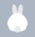 Rabbit Bottom vector image vector image
