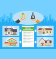real estate service flat vector image