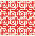 red and white kaleidoscope seamless pattern vector image vector image
