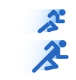 Running people in motion Simple symbol of run vector image
