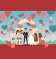 selfie at celebration people wedding marriage vector image