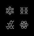 set line icons molecule vector image