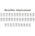 Set of monochrome icons with braille alphabet vector image vector image