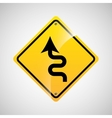 signal traffic yellow icon graphic vector image vector image