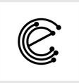 simple e cce cec initials geometric network line vector image vector image
