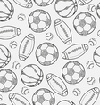 sketch of different balls vector image vector image