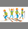 skiing male holidays cross country skiing vector image