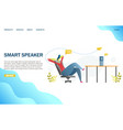 smart speaker website landing page design vector image vector image