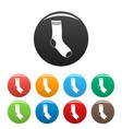 sock icons set color vector image vector image