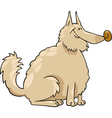 spitz dog cartoon vector image vector image