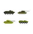 tank icon set flat style vector image vector image