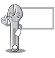 thumbs up with board wrench character cartoon vector image