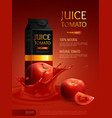tomato juice composition vector image