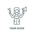 tour guide line icon linear concept vector image