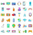 useful device icons set cartoon style vector image vector image