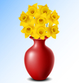 Vase with flower vector image vector image