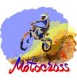 Watercolor motocross vector image