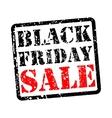 Black friday sale grunge vector image