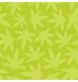 Marihuana ganja weed seamless pattern green vector image