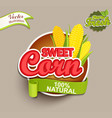 sweet corn logo vector image