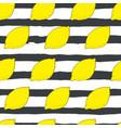 hand drawn lemon seamless pattern vector image