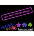 10 Percent Off Everything Rubber Stamp vector image vector image