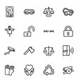 16 protection icons vector image vector image
