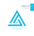 a letter logo design geometric triangle arrow vector image vector image