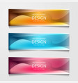 Abstract web banner design template collection of