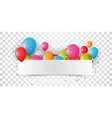 birthday celebrations banner vector image vector image