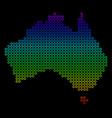bright australia map vector image vector image
