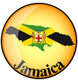 button Jamaica vector image