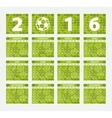 Calendar 2016 Soccer concept vector image vector image