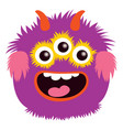cartoon capital letter o from monster alphabet vector image vector image