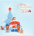 cartoon character of santa claus kids and vector image vector image