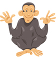 chimpanzee ape cartoon vector image