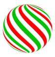 christmas ball candy sphere decoration vector image