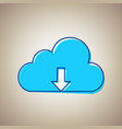cloud technology sign sky blue icon with vector image