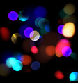 colorful defocused lights vector image vector image