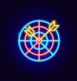 darts neon sign vector image vector image