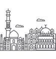 delhiindia line icon sign vector image vector image