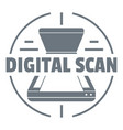 digital scan logo simple style vector image
